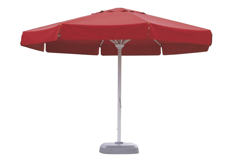 Red cibeles parasol with profile flaps
