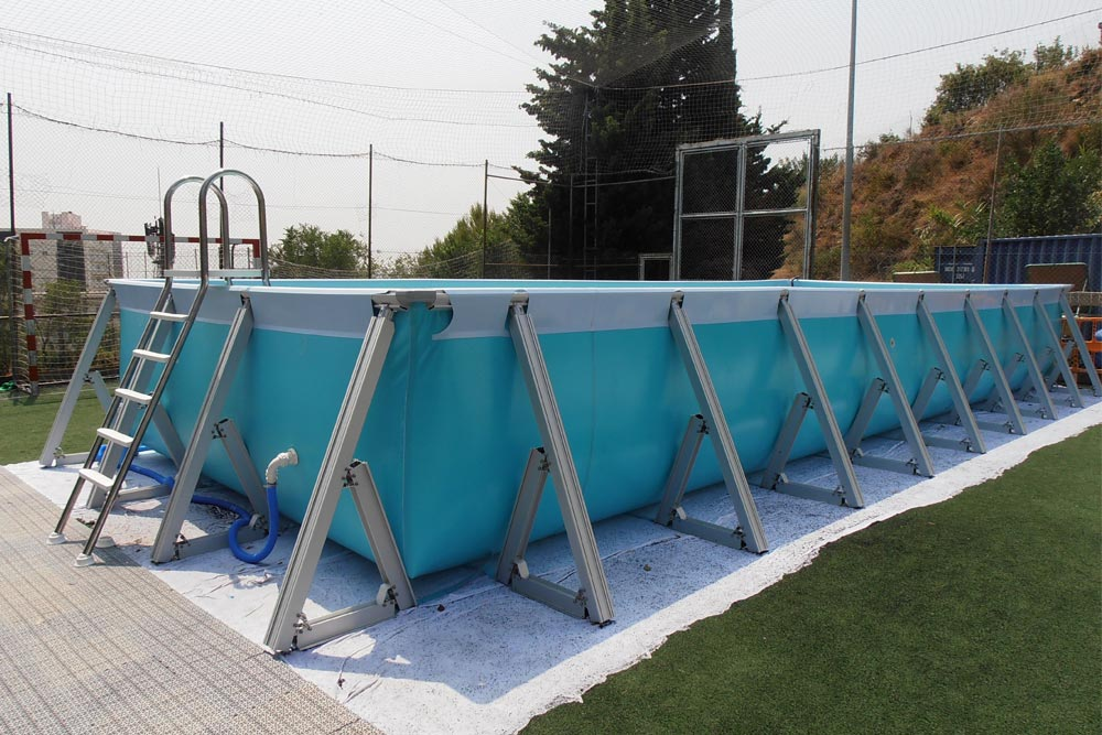Detachable plus pool with ladder