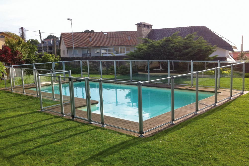 Valla de seguridad transparent piscinas iaso - Valla para piscina ...