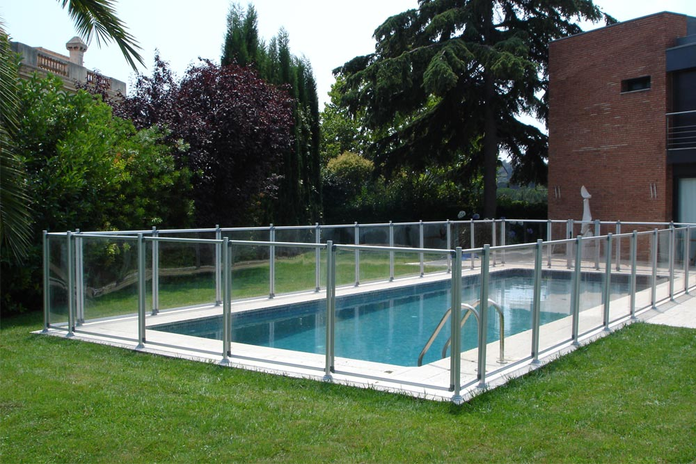 Valla de seguridad transparent piscinas iaso - Vallas para piscinas ...