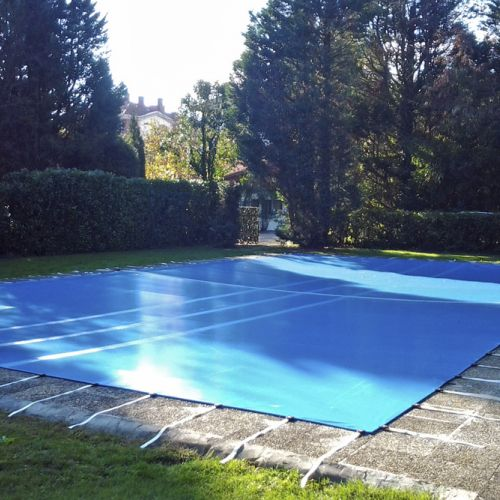 Outdoor pool with fixed moorings
