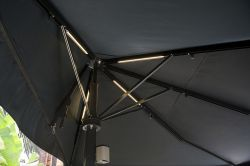 Umbrella azores D with LED lighting in ribs and mast
