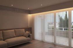 Vertical curtain in a private house