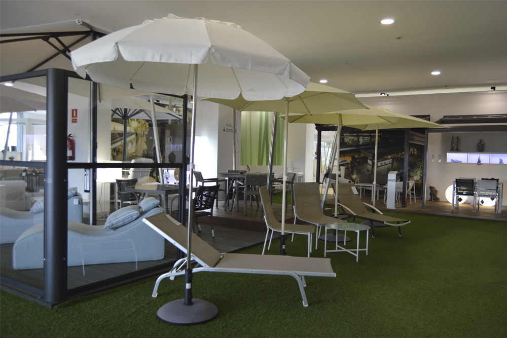 Dagon parasols in the IASO showroom