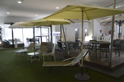 Dalia Parasol in the showroom