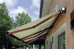 Eurosol awning plus box in private home garden