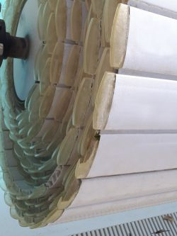Detail of the slats on the roller.