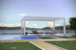 Pergola pergoklima R600 the structure provides from the sun