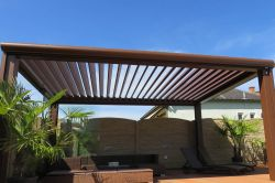 Pergola pergoklima R600 the structure provides full or partial protection from the sun