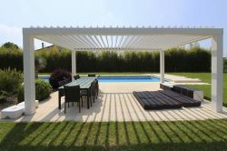 Pergola pergoklima R600 In the garden of a private house