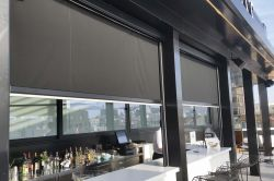 Curtain black clausa  in fixed structure