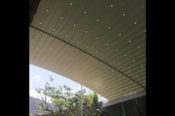 Radian pergola with lighting