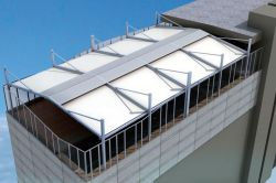Pergostar Classic self-supporting gable with open deck.