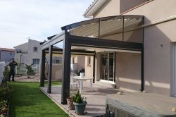 Radian pergola in a private house