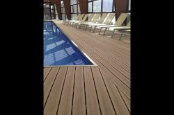 Deck in a public swimming pool
