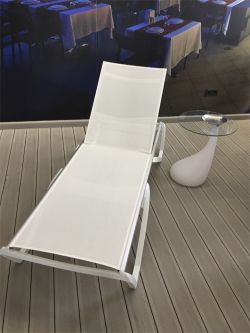 White hammock with high back