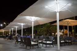 Umbrella azores with LED lighting in bars and mast