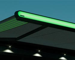 Awning Ma mx1 compact with green lighting