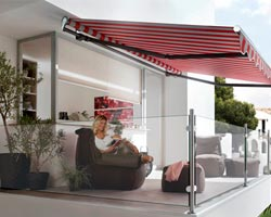 Awning ma1700 in terrace of particular with furniture