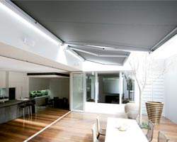 Awning ma5010 in open terrace with furniture