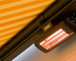 Awning ma6000 with heating accessory