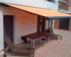 Awning ma6000 orange on private terrace
