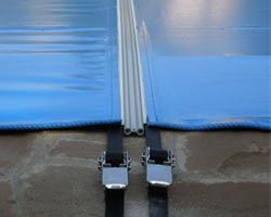Macro mooring system Pool cover
