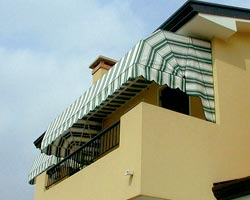 Awning with canopy milano on terrace of house