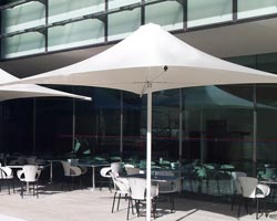 Syrian parasol on bar terrace