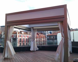 Pergola saloon on private terrace