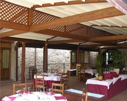 Kassia Pergola outside for restaurant
