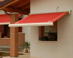 Awning eurosol super red box in private house window
