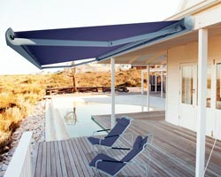 Awning eurosol atlas purple on private terrace