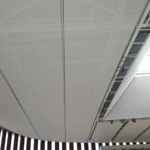 Membrane roof of the sports center