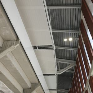View of the membrane above the stands