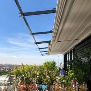 Argus pergola on the hotels attic terrace