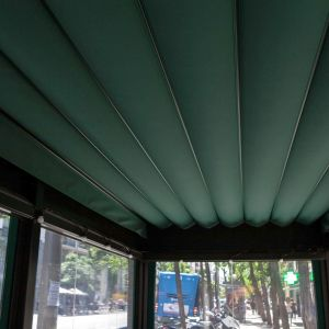 Green canvas of the pergola Giralda XL