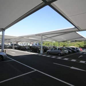 Tensile structure for parking