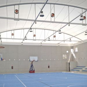 Interior of the sports center