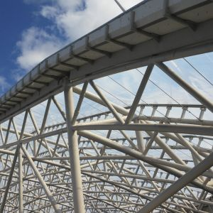 Structure for fastening the ETFE cushions