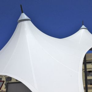 image of the two conoids of the tensioned structure