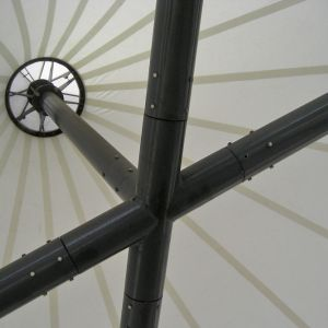 Interior detail of the tensioned structure