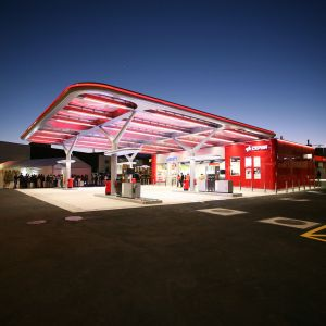 Inauguration of the CEPSA service station in Tenerife.