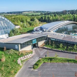 Entire view of the exterior of Center Parcs de Moselle