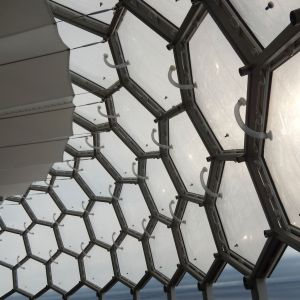 ETFE cushions from the inside.