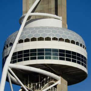 Dome of the Vasco da Gama Tower lined with ETFE cushions.