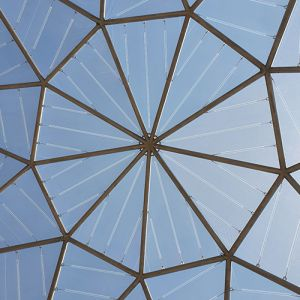 Transparent ETFE in the dome.