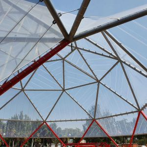 ETFE dome from inside the structure.