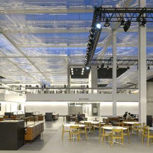 Main floor of the library covered by ETFE