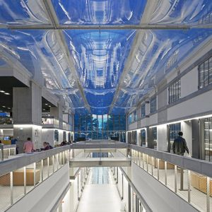 Transparent ETFE cushions